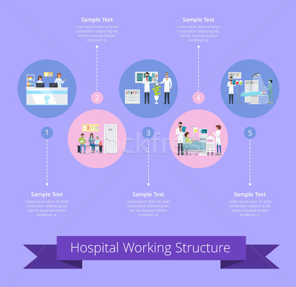 Hospital Working Structure Vector Illustration Stock photo © robuart