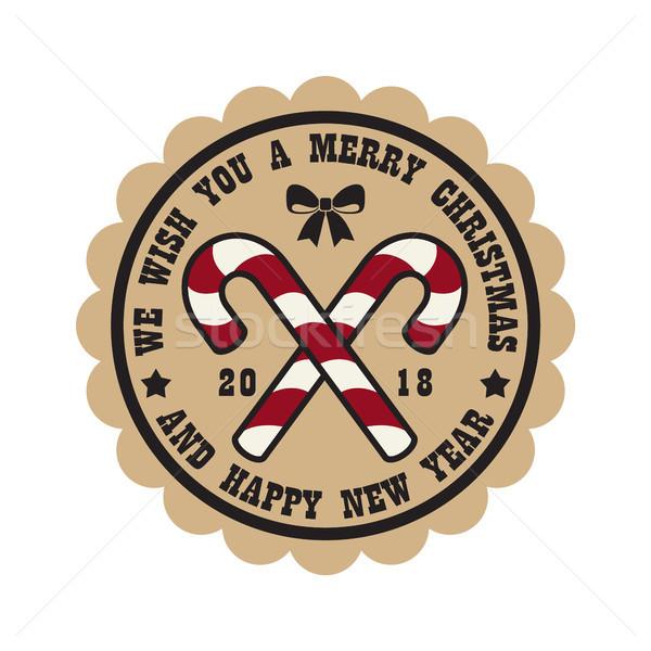 We Wish You Merry Christmas Vector Illustration Stock photo © robuart