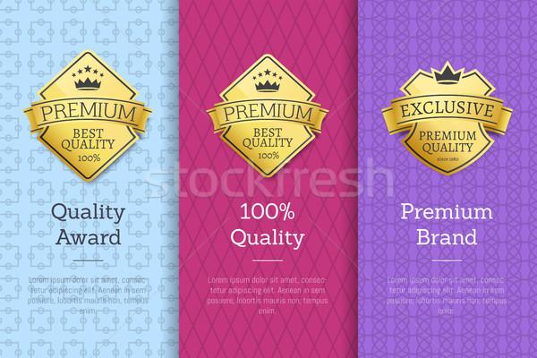 Kalite ödül prim marka garanti sertifikalar Stok fotoğraf © robuart