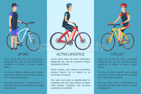 Sport and Active Lifestyle Set Vector Illustration Stock photo © robuart