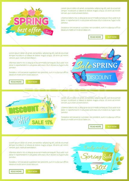 Bahar satış Filmi etiketler web posterler Stok fotoğraf © robuart