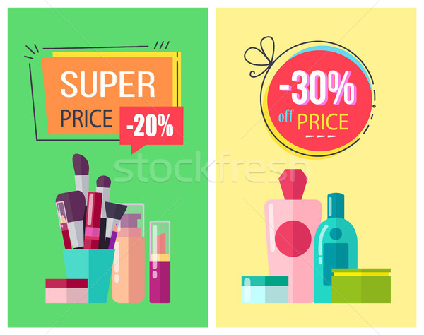 Super Price and -30 Off Price Vector Illustration Stock photo © robuart