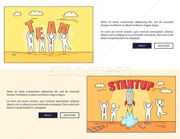 Equipe startup teia pessoas foguete Foto stock © robuart