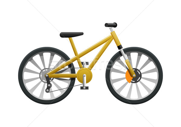 Transport. Isolated Yellow Modern Sport Bicycle Stock photo © robuart