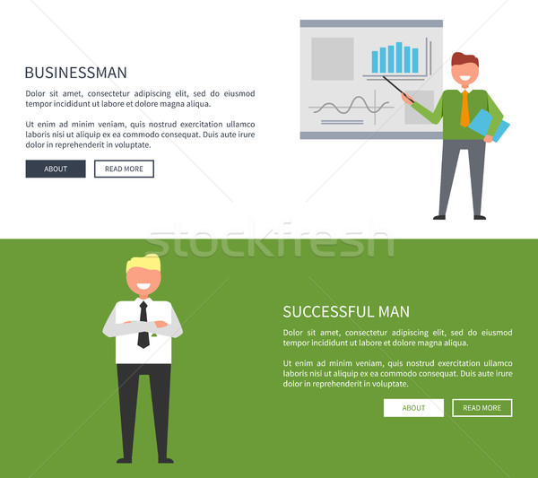 Businessman and Successful Man Posters with Text Stock photo © robuart
