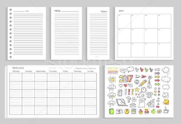 Set of Calendar, Daily Plans Vector Illustration Stock photo © robuart