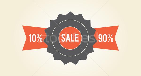 Vásár kiárusítás színes címke izolált fehér Stock fotó © robuart