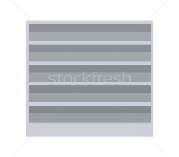 Supermarket Empty Shelves Vector Illustration Stock photo © robuart