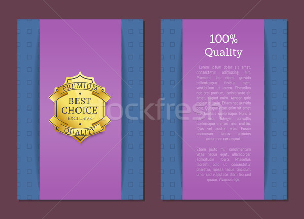 100 Quality Best Choice Exclusive Standard Label Stock photo © robuart