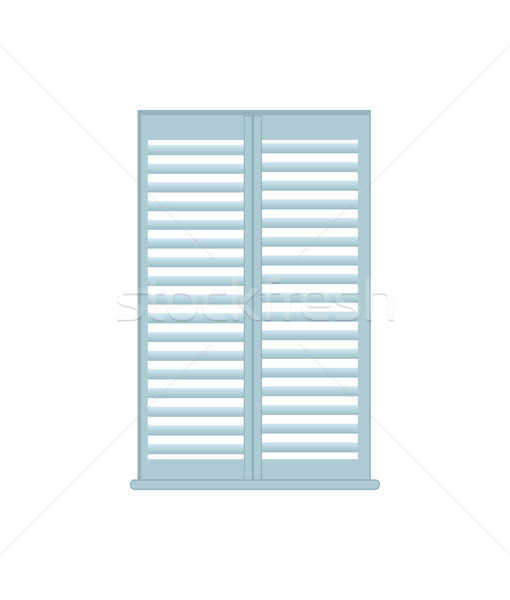 Jalousie Home Interior Object Vector Illustration Stock photo © robuart