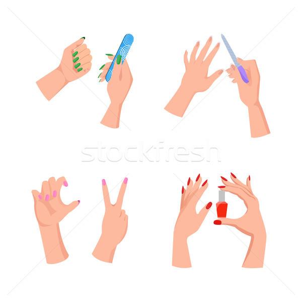 爪 サービス 手 ツール コレクション ストックフォト © robuart
