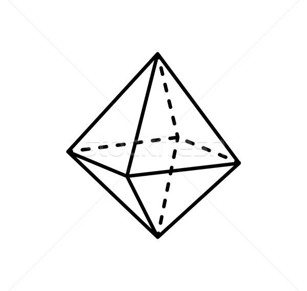 Geometrik biçim projeksiyon hat düz hatları Stok fotoğraf © robuart