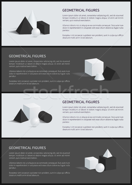 Geometrical Figures Banner Set Vector Illustration Stock photo © robuart