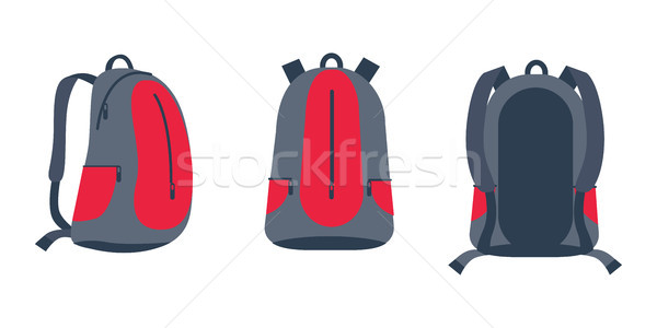 Backpack for Bike Riding Set Vector Illustration Stock photo © robuart