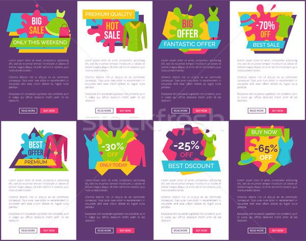 Big Bundle of Promo Web Posters with Clothing Stock photo © robuart