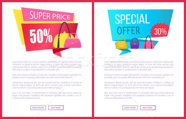 Wspaniały cena 50 oferta specjalna zniżka Zdjęcia stock © robuart