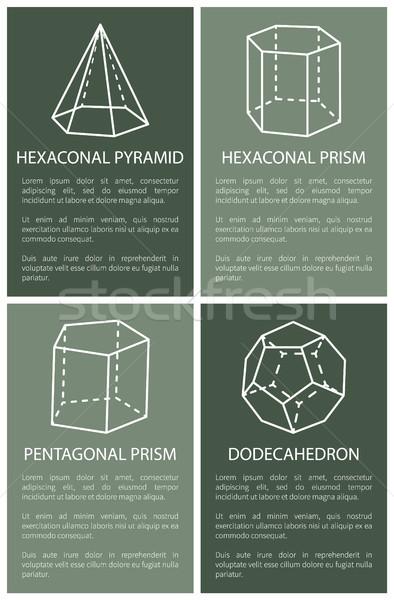 пирамида призма геометрический баннер коллекция Сток-фото © robuart