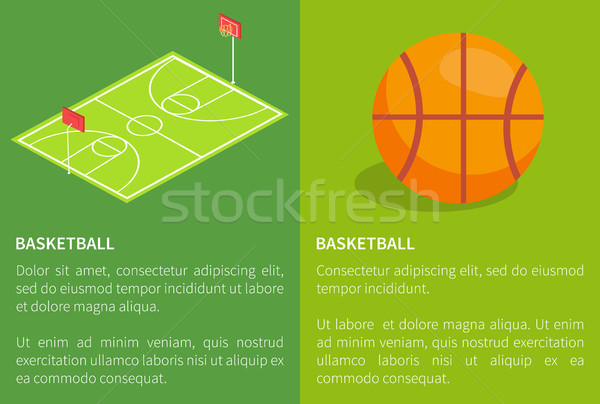 Basketball School Stadium Three Dimensional Vector Stock photo © robuart