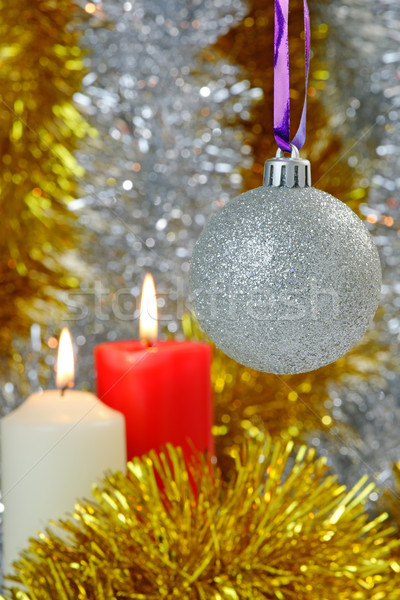 Christmas Baubles and Candles Stock photo © rogerashford