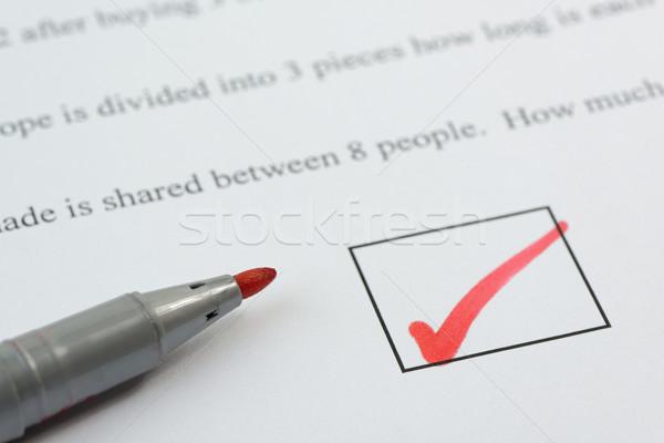 Sınav kâğıt kalem metin değil Stok fotoğraf © rogerashford