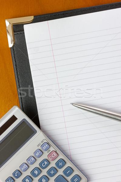 会議 ペン 電卓 デスク 先頭 コピースペース ストックフォト © rogerashford