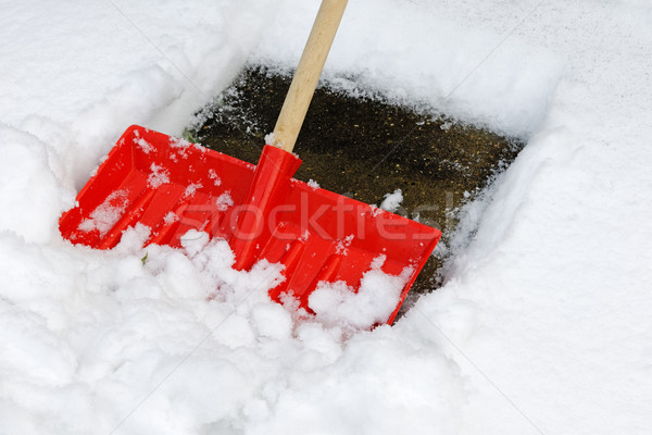 Snow Shovel Stock photo © rogerashford