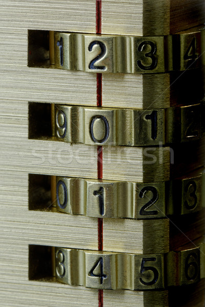 New Year Combination Lock 2014 Stock photo © rogerashford