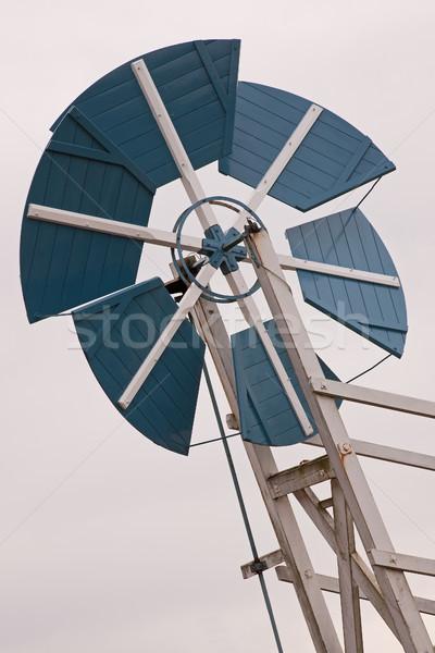 風車 詳細 古い 空 風景 旅行 ストックフォト © rogerashford