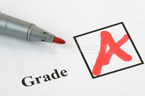 Yazılı sınav kâğıt kalem soyut öğrenci Stok fotoğraf © rogerashford