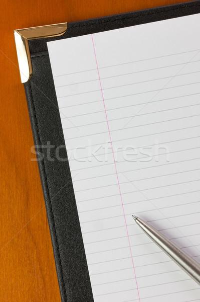 Conférence dossier stylo cuir bureau espace de copie Photo stock © rogerashford