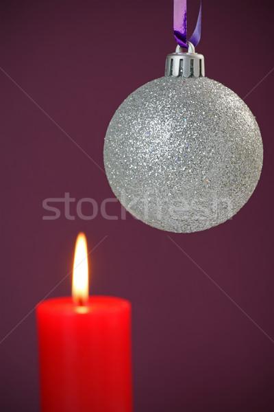 Stok fotoğraf: Noel · önemsiz · şey · mum · bo · soyut · arka · plan