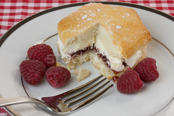 Raspberry and Cream Scone Stock photo © rogerashford