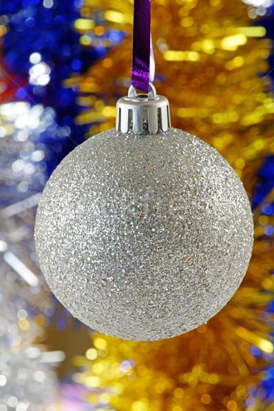 Gümüş Noel önemsiz şey noel renkli Stok fotoğraf © rogerashford