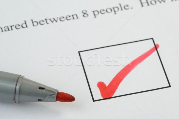 Corriger examen question papier stylo Photo stock © rogerashford