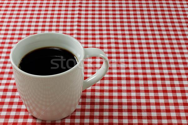 Kahve kupa kupa kahve dinlenmek fincan beyaz Stok fotoğraf © rogerashford