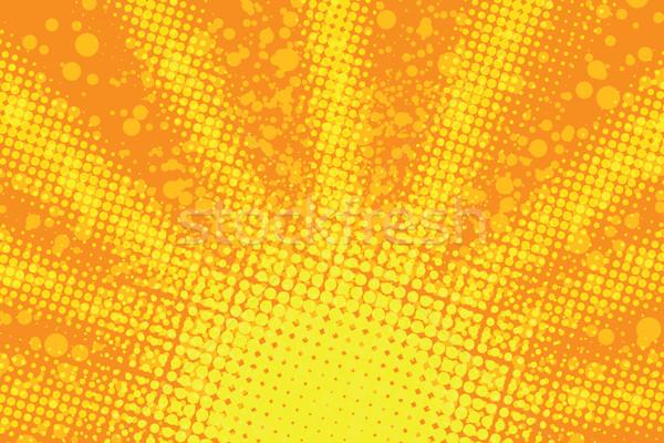 Nascer do sol retro vetor amarelo Foto stock © rogistok