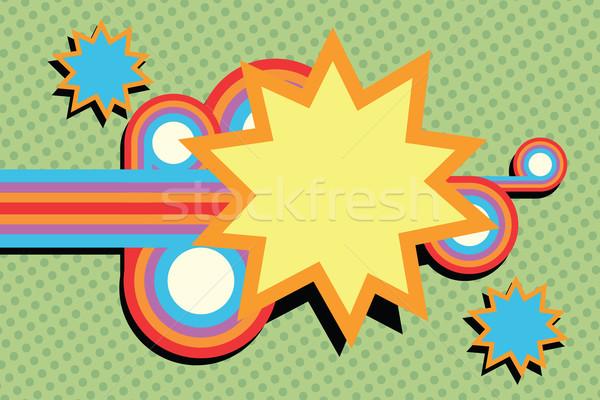 Pop art abstract fumetto cartoon stile Foto d'archivio © rogistok