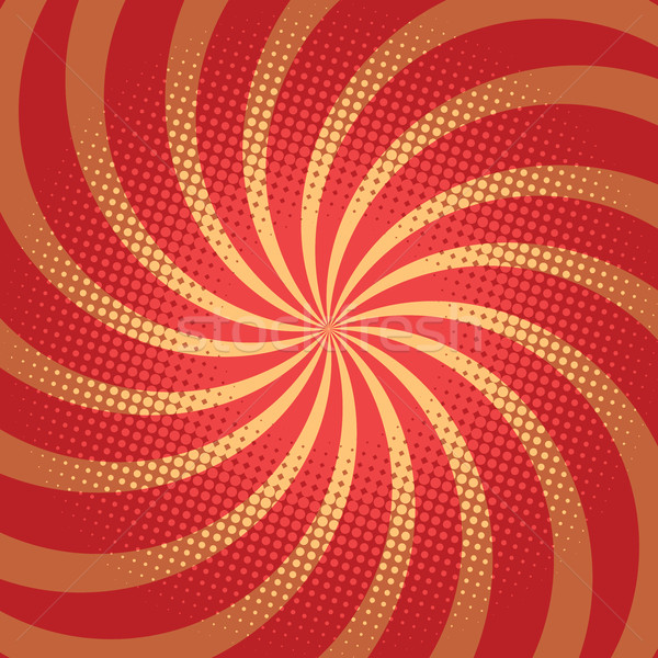Red spiral pop art background Stock photo © rogistok