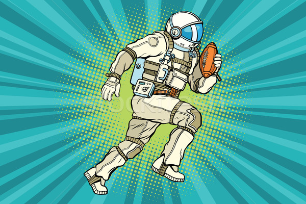 Astronaut athlete American football Stock photo © rogistok