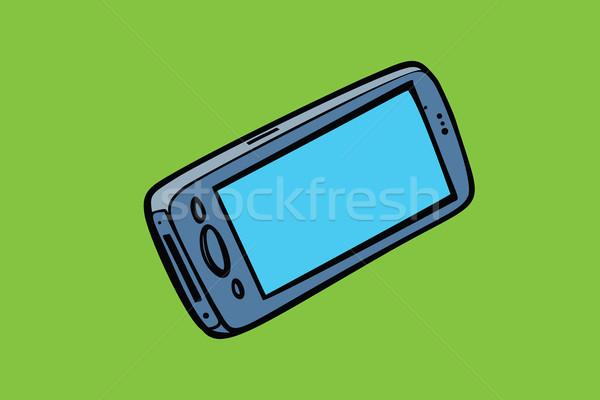 Okostelefon telefon izolált kütyük elektronika képregény Stock fotó © rogistok