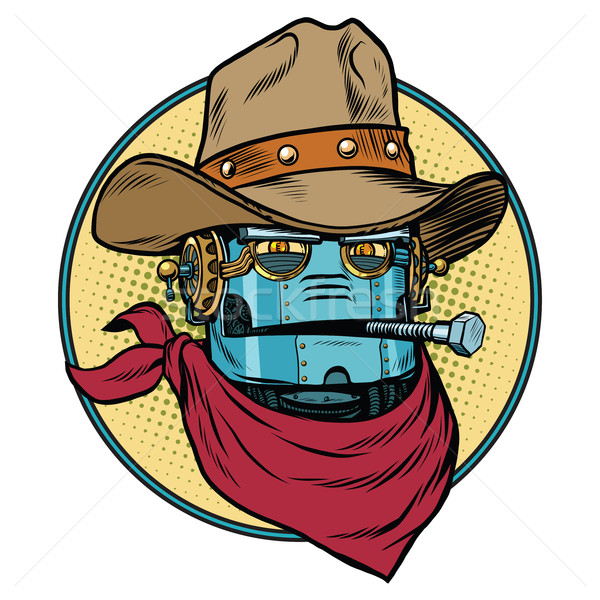 Robot cowboy West wild world Stock photo © rogistok