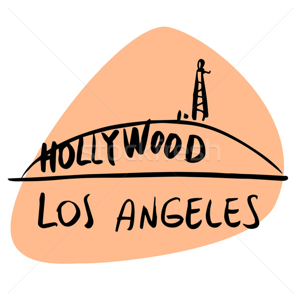 Los Angeles California USA hollywood stilizzato immagine Foto d'archivio © rogistok