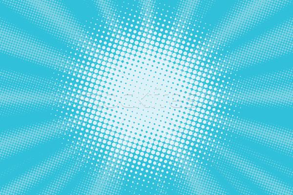 Açık mavi pop art Retro vektör gökyüzü su Stok fotoğraf © rogistok