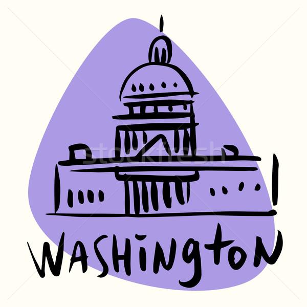 Вашингтон США стилизованный изображение город туризма Сток-фото © rogistok