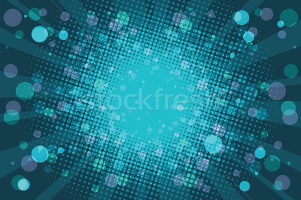 Tatil mavi pop art rays Retro Stok fotoğraf © rogistok