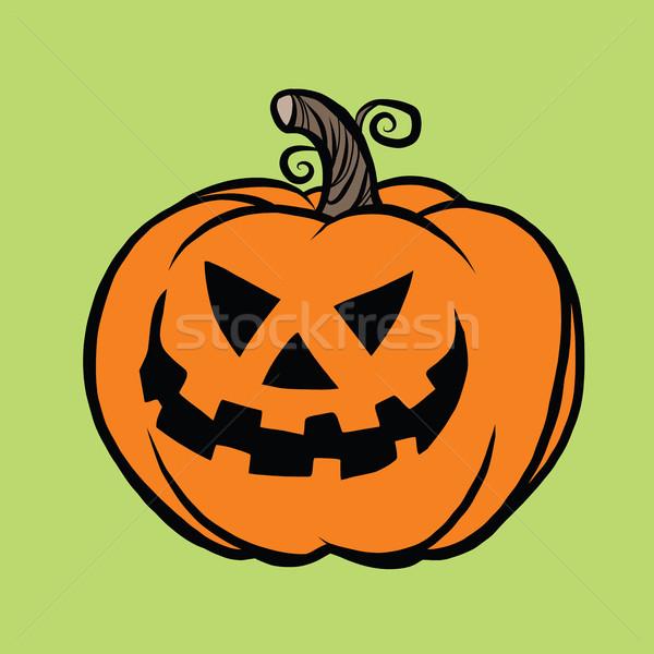 Gonosz halloween tök pop art illusztráció őszi idény mosoly Stock fotó © rogistok