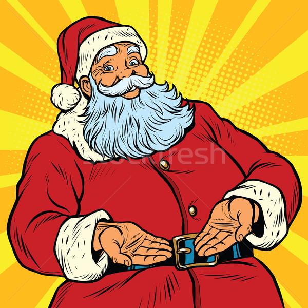 Stock fotó: Retro · mikulás · új · év · karácsony · pop · art · kézmozdulat