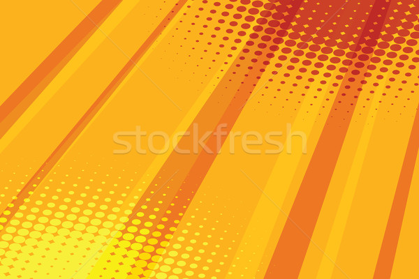Red yellow halftone raster effect pop art background Stock photo © rogistok