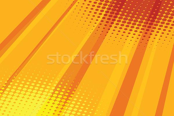Foto stock: Vermelho · amarelo · meio-tom · efeito