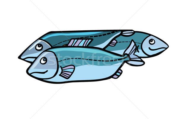Fish food illustration Stock photo © rogistok
